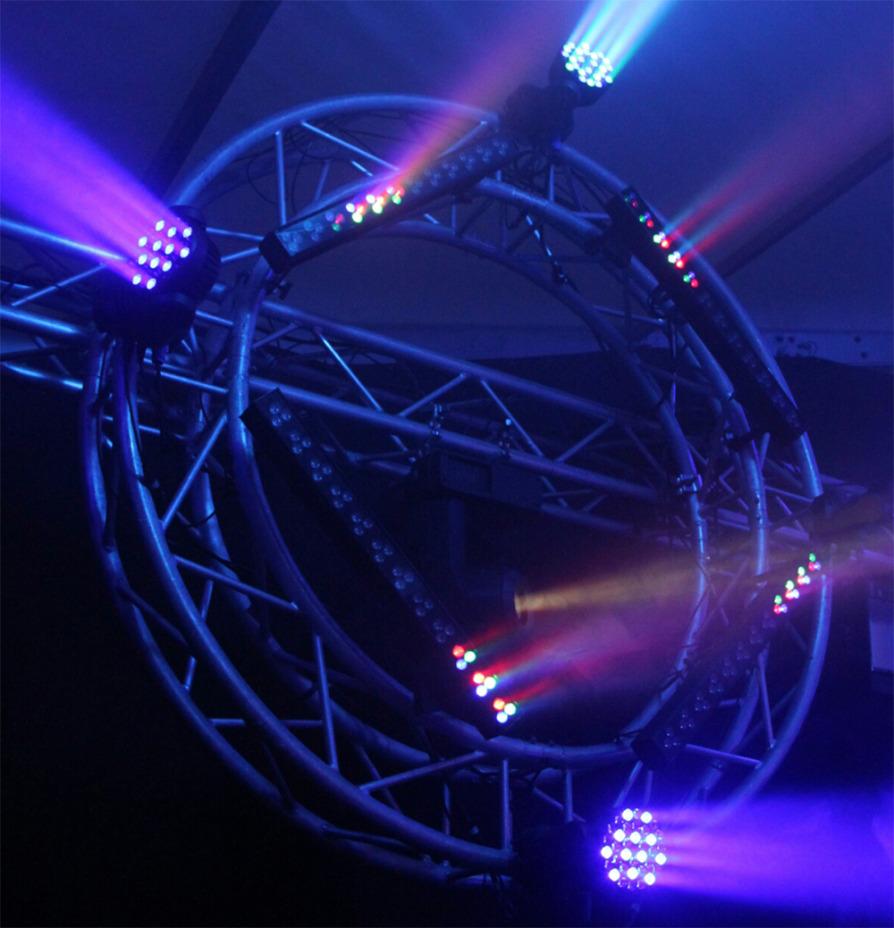 Trusscirkel met diverse lichteffecten